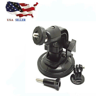US Camera Accessories Suction Cup Mount Tripod Adapter For Gopro Hero 4/3/2/1 HD