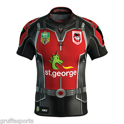 St George Dragons 2017 Marvel Antman Jersey Mens 5XL & Ladies Sizes ISC NRL