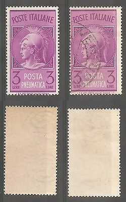 Italy 1947 Pneumatic post 3 L MNH and used