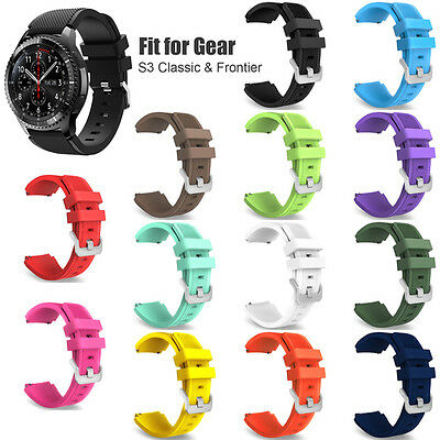 Silicone Fitness Replacement Wrist Strap For Samsung Gear S3 Frontier / Classic
