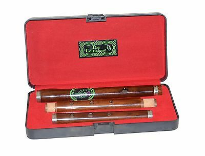 Irish D Flute Brand New  Rose Wood Pro Wooden Hard Case Length 58cm 3Pcs