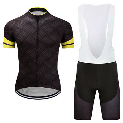 2017 Unique Men Cycling Outfits Short Sleeve Jersey Bib Shorts Kits Pad Garments