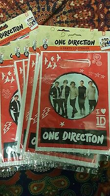 9 Packs of One Direction Party bags - 8 bags per pack  - Wholesale  Job Lot