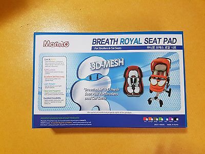 Manito Breath Royal Plus 3D Mesh Seat Pad/Cushion/Liner for Stroller and Car Sea
