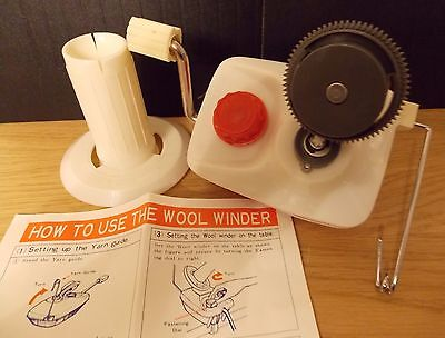 Hand Operated - Wool / Yarn / String / Thread Winder - Bnib