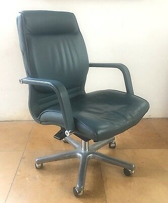 Leather Office Chair - Desk Chair - Swivel Chair - Home Office