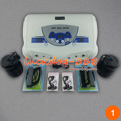 New Dual Ionic Detox Ion Foot Bath Spa Cell Cleanse Unit MP3 Function + 2 Arrays