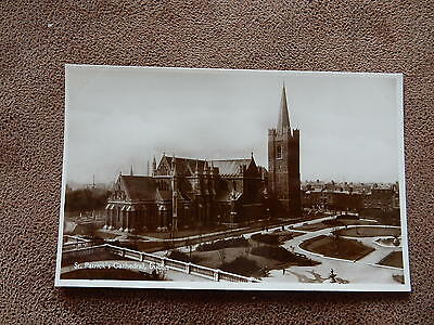 Signal series Real Photo Postcard-St Patricks Cathedral Dublin -Ireland / Eire