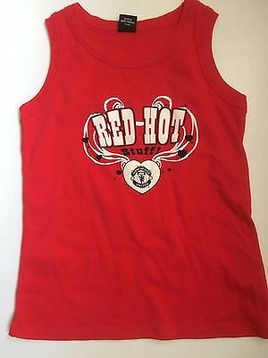 manchester united ladies tank top tee shirt size 14 uk