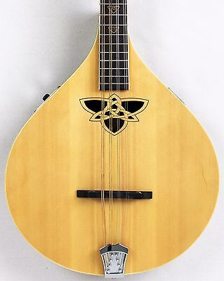 Ozark 2243E electro bouzouki with Celtic knot sound hole and wooden inlays Motif