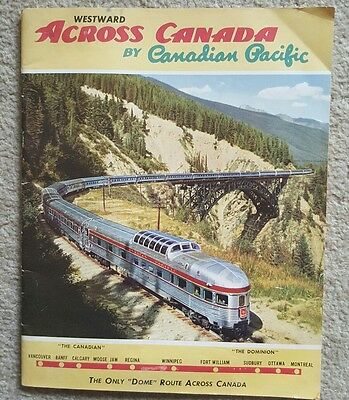 CANADA TRAVEL BROCHURE BOOKLET 50s Vintage Streamlined Dome Train Canadian