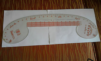 Vintage 1970's Designers Curve Ruler, W. E, Matthews, 1976, yards & inches