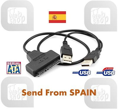 ★ USB to SATA 22 Pin Adapter for 2.5inch HDD Hard Disk Driver Data Power Cable ★