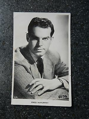 1930s-50's real photo  postcard- Film Actor - Fred McMurray