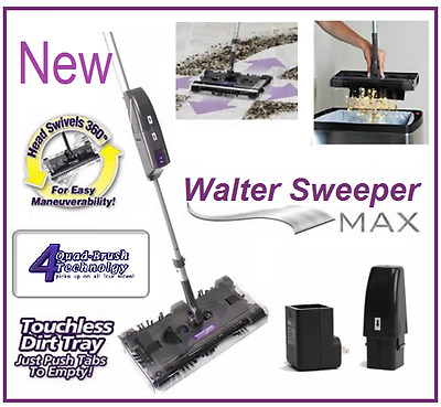 Sweeper Max - New Latest Cordless swivel sweeper G9 Quad-Brush