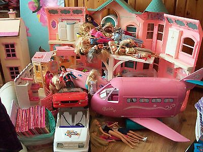 Barbie House, Cars, Boat, Horse, Stable , Dolls and MORE MASSIVE BUNDLE