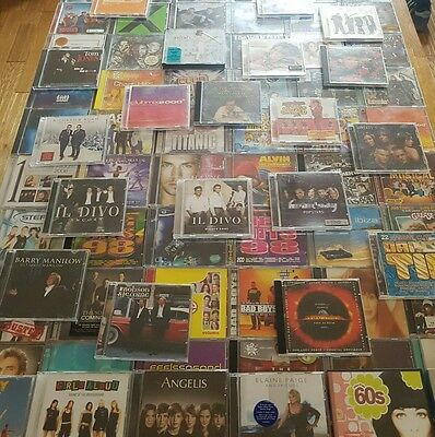CD Job Lot - Chart Music, Compilations, Soundtracks, Pop, 121 CDs