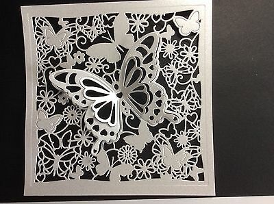 "8 X Pearlescent 3D Butterfly Die Cut Toppers 6"" X 6"""
