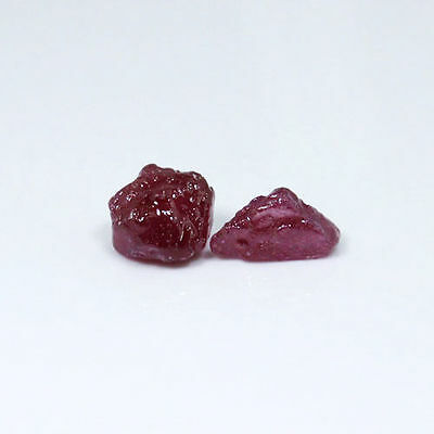 Beautiful 14.88Cts Natural Pink Red Ruby Stone Rough 2Pcs Gemstone