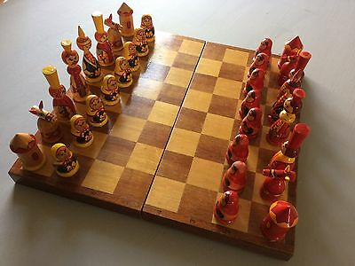 Russian Chess Set With Board