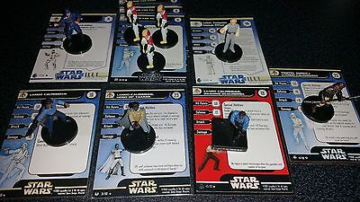 Star Wars Miniatures Bespin Lot, Lando Hero, Tamtel, Guard, Lobot, Pilot, +++