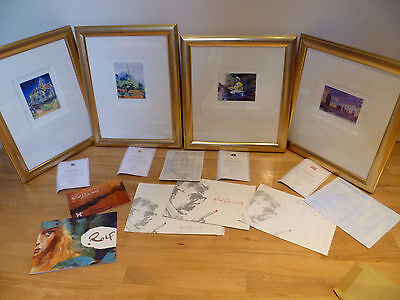 4 x Signed, Limited Edition Prints. Rolf Harris. Matching Frames. Certificates.