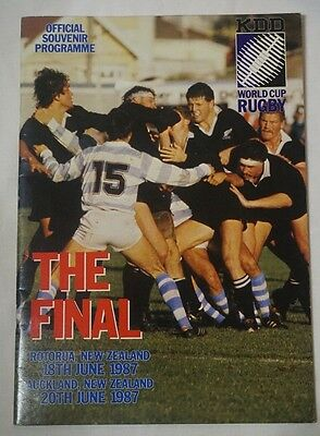 1st Final 1987 Rugby World Cup Programme  New Zealand v France  ROTORUA 18.06.87
