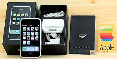  Apple iPhone 2g 8Gb  iOS 1 In Original Box and Accessories + Apple Stickers