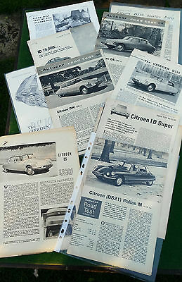 Citroen DS19, ID19, DS21, DW, DS21 Original Road Tests from Autocar/Motor etc.