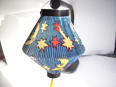 Vintage Halloween Chinese Style Paper Lantern Moon & Stars Made In West Germany