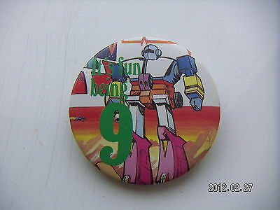 Transformers It's Fun To Be 9 Picture Badge