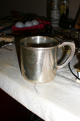 """Hirsch 6402 Sterling Silver Baby Cup """"BAL"""" Mono 2 5/8"""" 80g"""