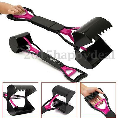 Dog Waste Poop Scoop Grabber Picker Poo Easy Pickup Pooper Scooper Pet Walk 60cm