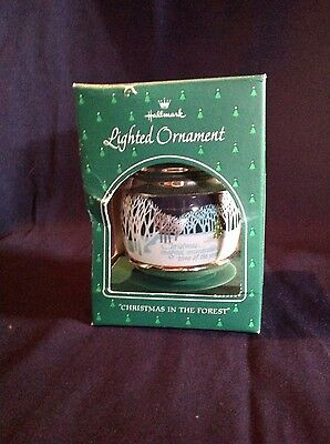 """1984 Hallmark """"Christmas In The Forest"""" Lighted Ornament"""