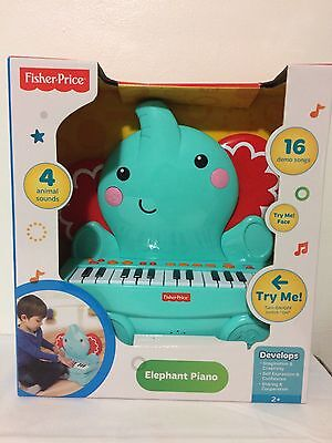 Fisher Price Elephant Music Piano Play & Record - New
