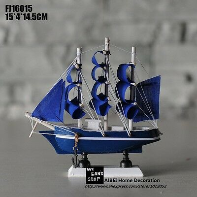 Sailing Ship Handmade Carved Model Boat Home Nautical Decoration Crafts Gift