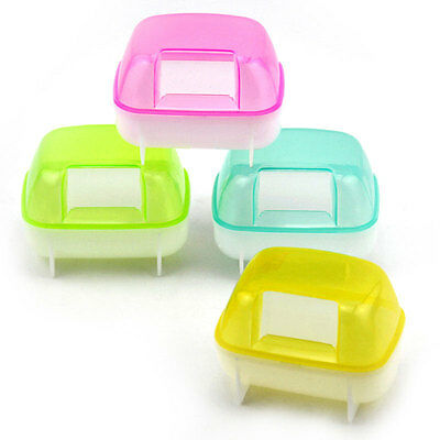 Small Animal Hamster Sauna Sand Bath Room Bathing Bathroom Potty Toilet