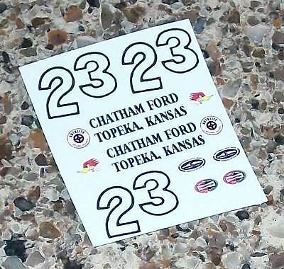 #23 1958 FORD T BIRD 1/24 Scale Slot Car Waterslide Decals for MONOGRAM