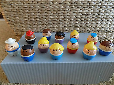 Vintage Little Tikes group of 12 Chunky People
