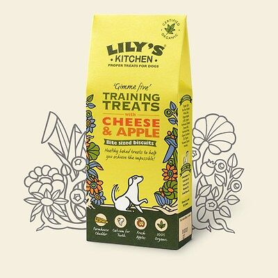 Lily's Kitchen Organic Cheese & Apple Training Treats Biscuits 100gm Healthy