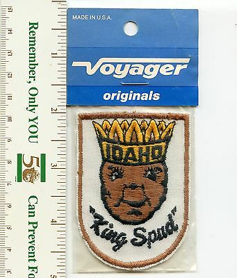 Vintage Idaho Voyager Souvenir 'King Spud' Patch (new)