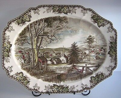 """Johnson Brothers THE FRIENDLY VILLAGE Platter Made in England 20"""" X 16"""""""