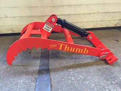 """New bucket Thumb grapple for Skid steer  loader tractor (Large) 32"""" or 36"""""""