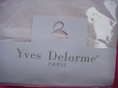 Yves Delorme Etrerose Single Fitted Sheet ~  Cotton Percale  ~200 Thread Count
