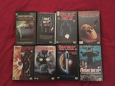 Friday The 13th Vhs Collection Big Box Vhs