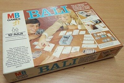 Vintage 1970's Game - BALI  by MB GAMES.  100% Complete