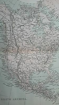 Antique 1863 Color Map of North America