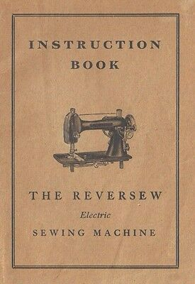 Reversew Electric Sewing Machine Manual Instruction Booklet full color PDF