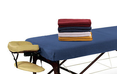 Flannel Stretch Sheet Table Cover Massage Couch Cover Washable White