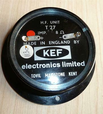 Rare Vintage KEF Enclosed Type 6535 T27 Tweeter. 8 ohm, includes gasket.